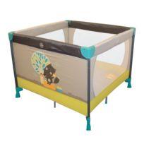 TIGEX - Lit parc carré bébé - Gris Renard
