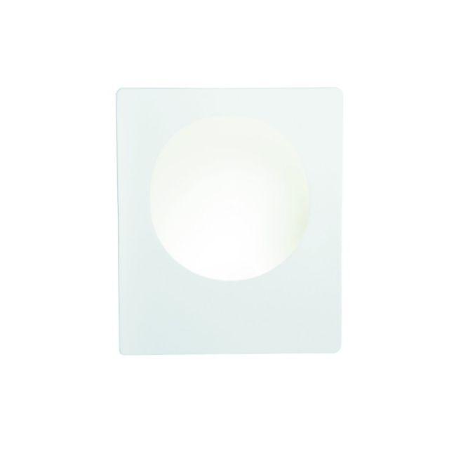 Searchlight Applique ronde led Gypsum, en plâtre