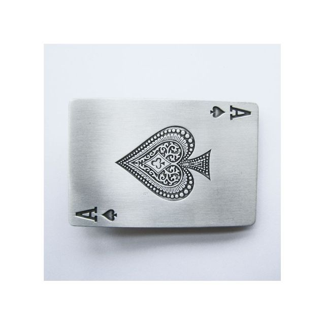 80c347aaadf Universel - Boucle de ceinture as de pique alu jeux carte poker casino