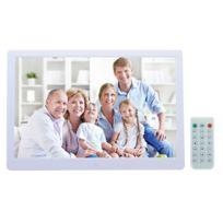 Wewoo - Cadre photo numérique blanc 13 pouces Led affichage avec support et télécommande, Allwinner F16, carte Sd / Ms / Mmc Usb