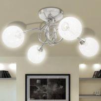 Vida - Plafonnier avec abat-jour en fils métalliques 4 ampoules G9