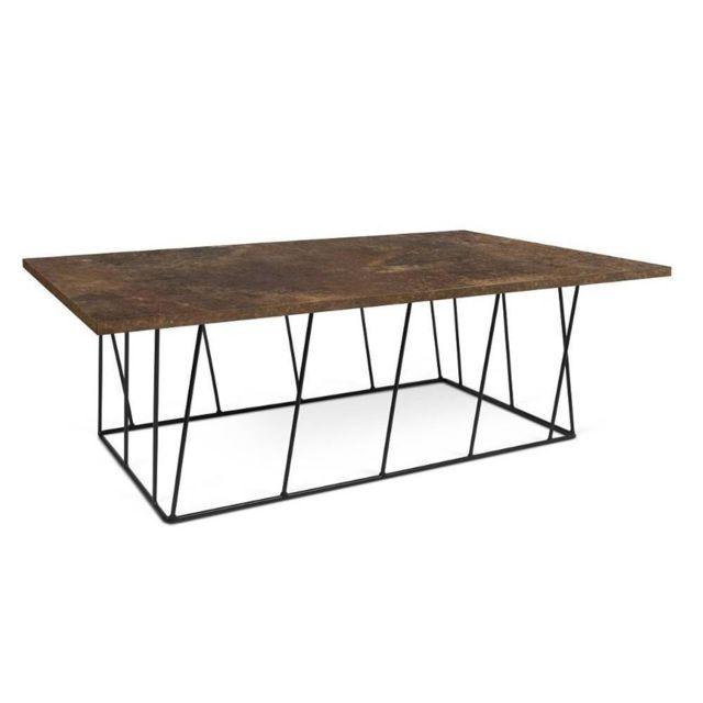 Inside 75 Table basse Helix 120 structure laquée noire