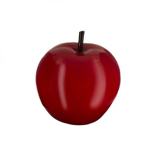 paris prix pomme d co en r sine 20cm rouge pas cher. Black Bedroom Furniture Sets. Home Design Ideas