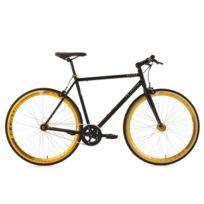 KS CYCLING - Vélo fitness fixie 28'' Pegado noir TC 53 cm