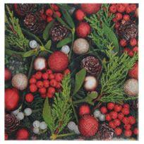1001DECOTABLE - 20 Serviettes papier Houx de Noel