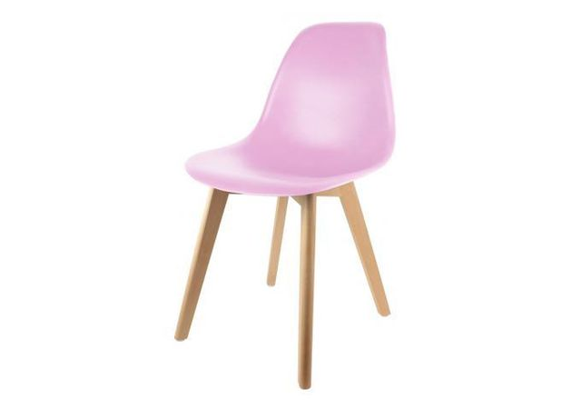 Declikdeco Chaise Enfant Scandinave Rose Baby Norway pas