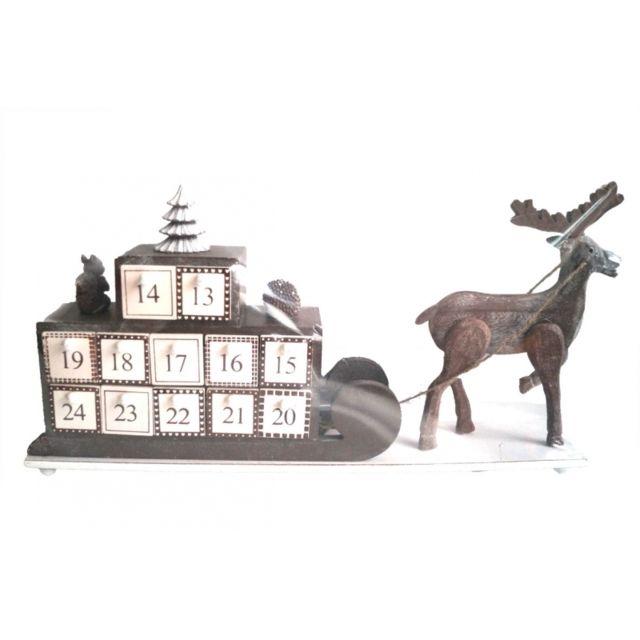 calendrier de l 39 avent en bois d coration de no l. Black Bedroom Furniture Sets. Home Design Ideas