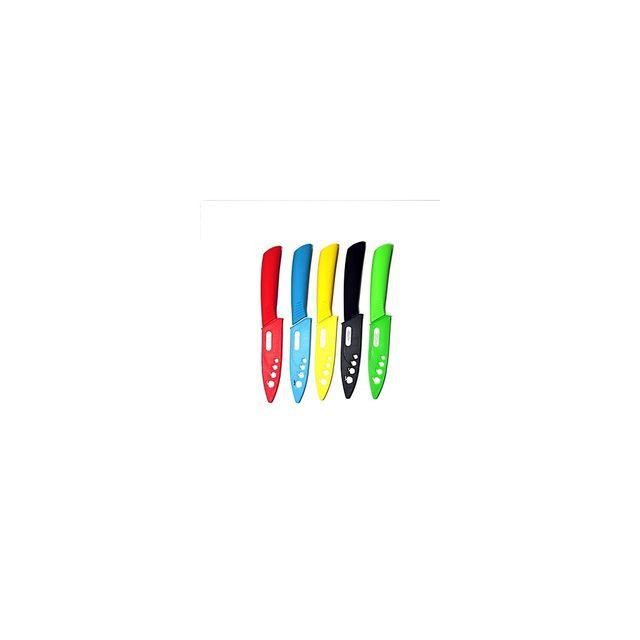 Alpexe Lot de 5 couteaux avec cache lame très bonne coupe lame fine