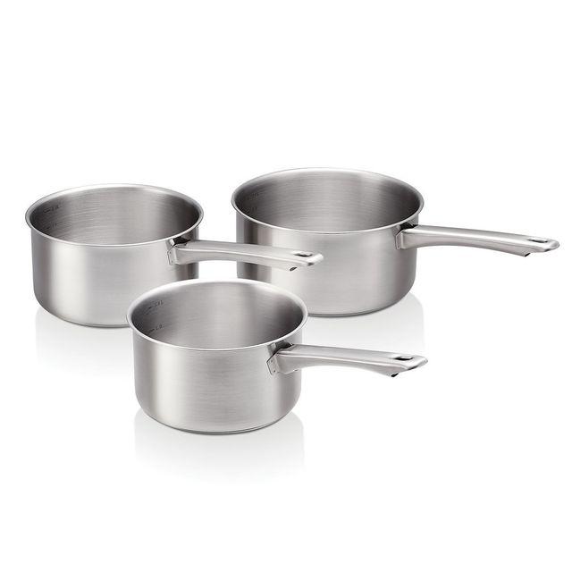 Beka - Série de 3 casseroles en inox D.16/18/20 cm marquage capacités Starter Set