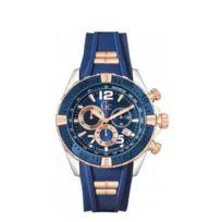 Gc - Montre Pour Homme Multifonction Bicolore Bleue Et Doré Rose Guess Co Y02009g7