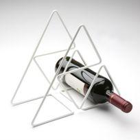 Versa - Support métal bouteille de vin - blanc
