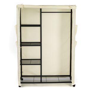 alin a xeo armoire penderie crue avec tringle et 4 tablettes pas cher achat vente armoire. Black Bedroom Furniture Sets. Home Design Ideas