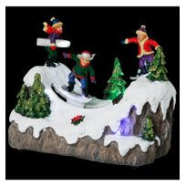 Jja - Village de noël snowboard animé et lumineux