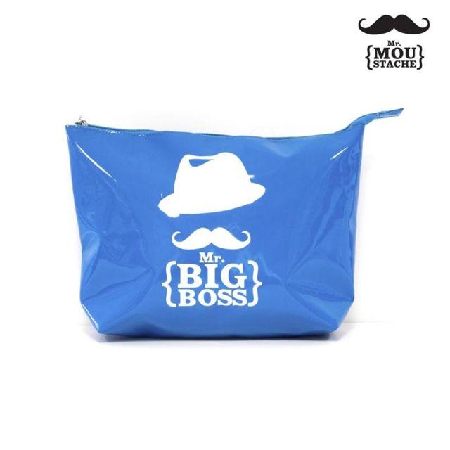 Paris Prix - Trousse de Toilette Mr Moustache® Bleu