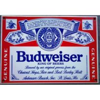 Universel - Plaque emaillée budweiser biere beer usa americaine email us