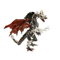 Plastoy - Figurine Dragon noir en armure