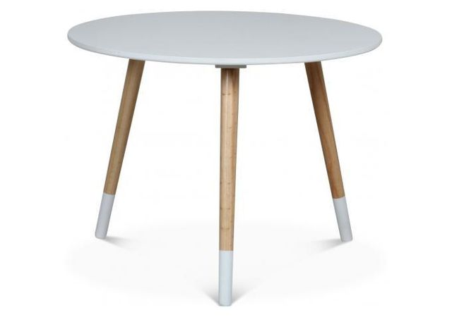 Declikdeco La Table Basse Opjet Style Scandinave Blanche D60xH46 Teodor enrichira le style nordique de votre intérieur. Véritable é