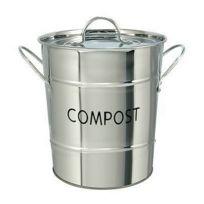 C. Diffusion - Seau à compost inox 5 L avec couvercle et anses