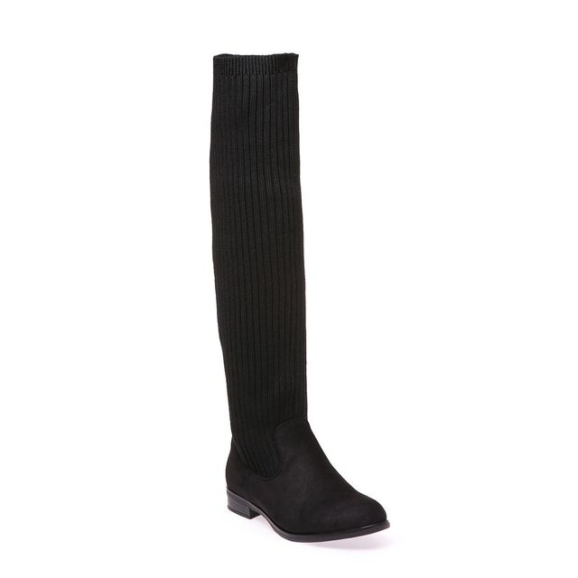 bottes chaussettes noires femme. Black Bedroom Furniture Sets. Home Design Ideas