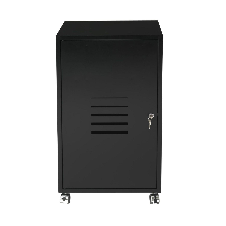 alin a poppy caisson de bureau roulettes en acier noir pas cher achat vente casiers de. Black Bedroom Furniture Sets. Home Design Ideas