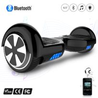 COOL AND FUN - COOL&FUN Hoverboard Batterie certifié CE Bleutooth, gyropode 6,5 pouces Noir