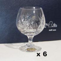 Cristal de Paris - Verres à Cognac 25 cl cristal Diamant x 6