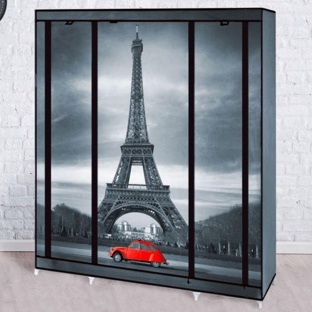 Idmarket Armoire de rangement Paris dressing penderie Xxl tissu