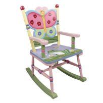 fantasy fields chaise bascule sige fauteuil bois dcor chambre enfant bb fille w - Fauteuil Pour Chambre