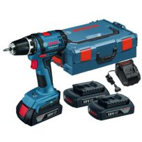 Bosch - Perceuse-visseuse sans-fil GSR 18-2 LI Professional OUTILLAGE + 3 batteries + coffret L box - 0615990FD7
