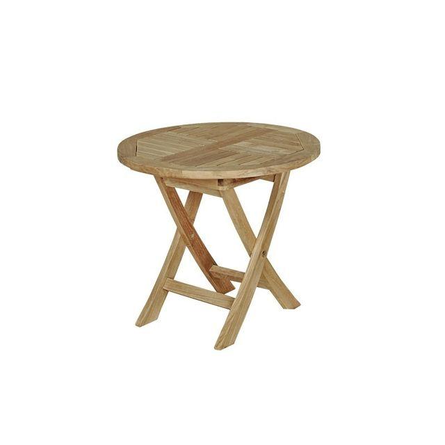 bois dessus bois dessous table de jardin enfant en bois de teck midland pas cher achat. Black Bedroom Furniture Sets. Home Design Ideas
