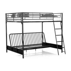declikdeco lit mezzanine avec banquette convertible. Black Bedroom Furniture Sets. Home Design Ideas
