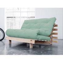 Karup - Banquette convertible en bois avec matelas futon Roots - Menthe - 140x200cm