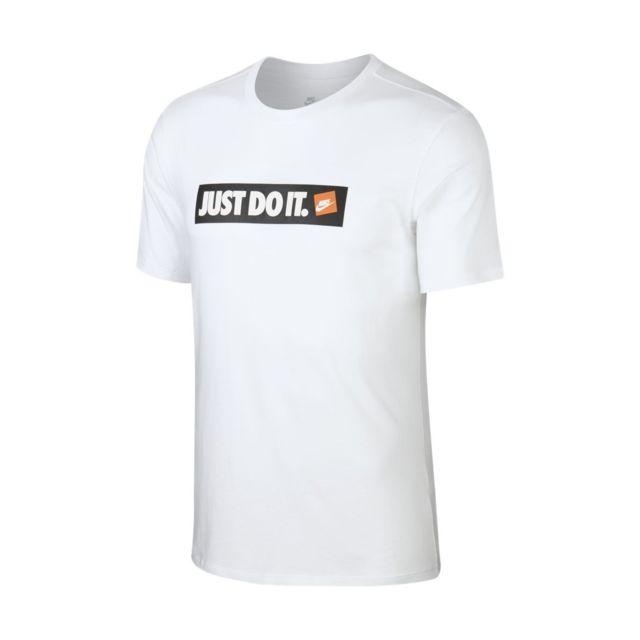 5dcd226b83e53 Nike - Tee-shirt Sportswear - Aa6412-100 Blanc - pas cher Achat   Vente Tee  shirt homme - RueDuCommerce