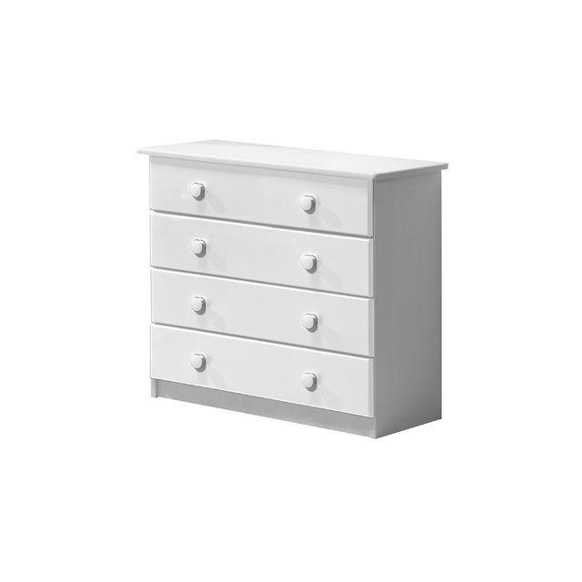 Commode Verona 4 tiroirs coloris blanc