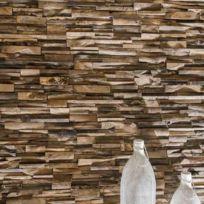 Wanda Collection - Parement en teck recyclé vieilli 20cm x50cm
