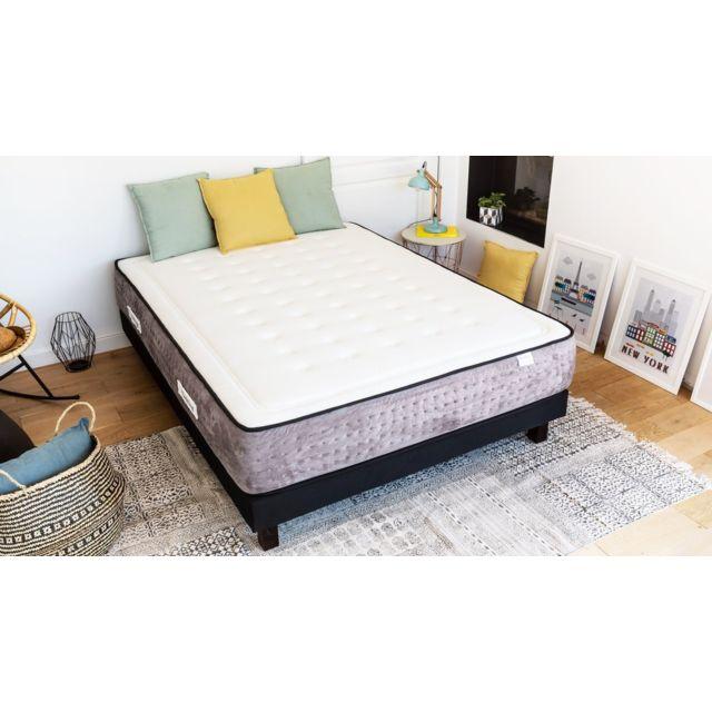 hbedding matelas ressorts ensach s duo spring palace 140x190 mousse m moire de forme et. Black Bedroom Furniture Sets. Home Design Ideas