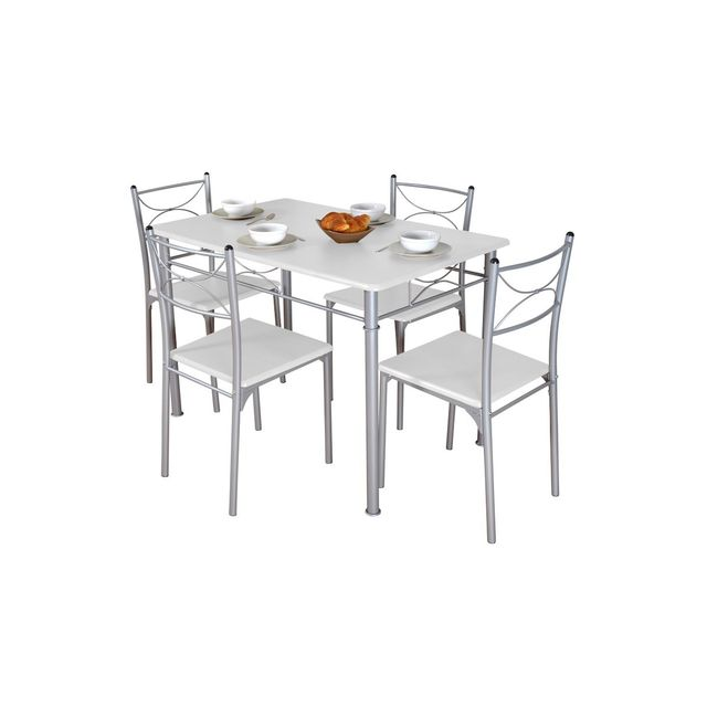 altobuy frutti ensemble repas blanc fibrome info france. Black Bedroom Furniture Sets. Home Design Ideas