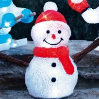 Blachère illumination - Bonhomme de neige éventail 3D