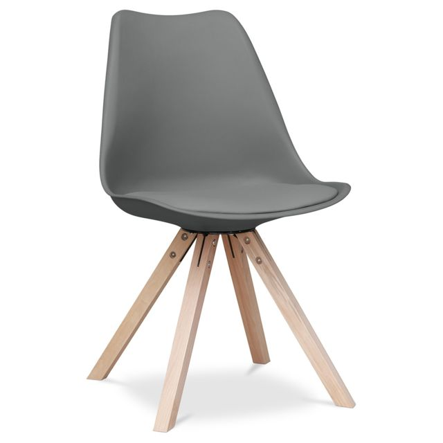 Privatefloor Chaise Charles Eames - Style - Dsw Design scandinave avec coussin