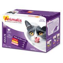 Animalis - Sachets Fraicheur pour Chats à la Viande - 12x100g