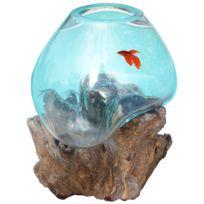 Les Animaux De La Fee - Aquarium Boule pour Combattant sur Racine taille M