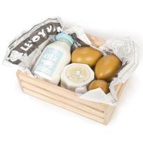 Le Toy Van - Cagette oeufs et produits laitiers en bois - Accessoire marchande