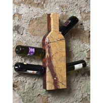It'S Stone - Support mural en pierre et en bois pour 6 bouteilles - Aci-its150