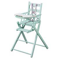Combelle - Chaise Haute Extra-Pliante Sarah - Laqué vert mint