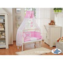 Lit bébé cododo avec parure prince/princesse rose blanc prince