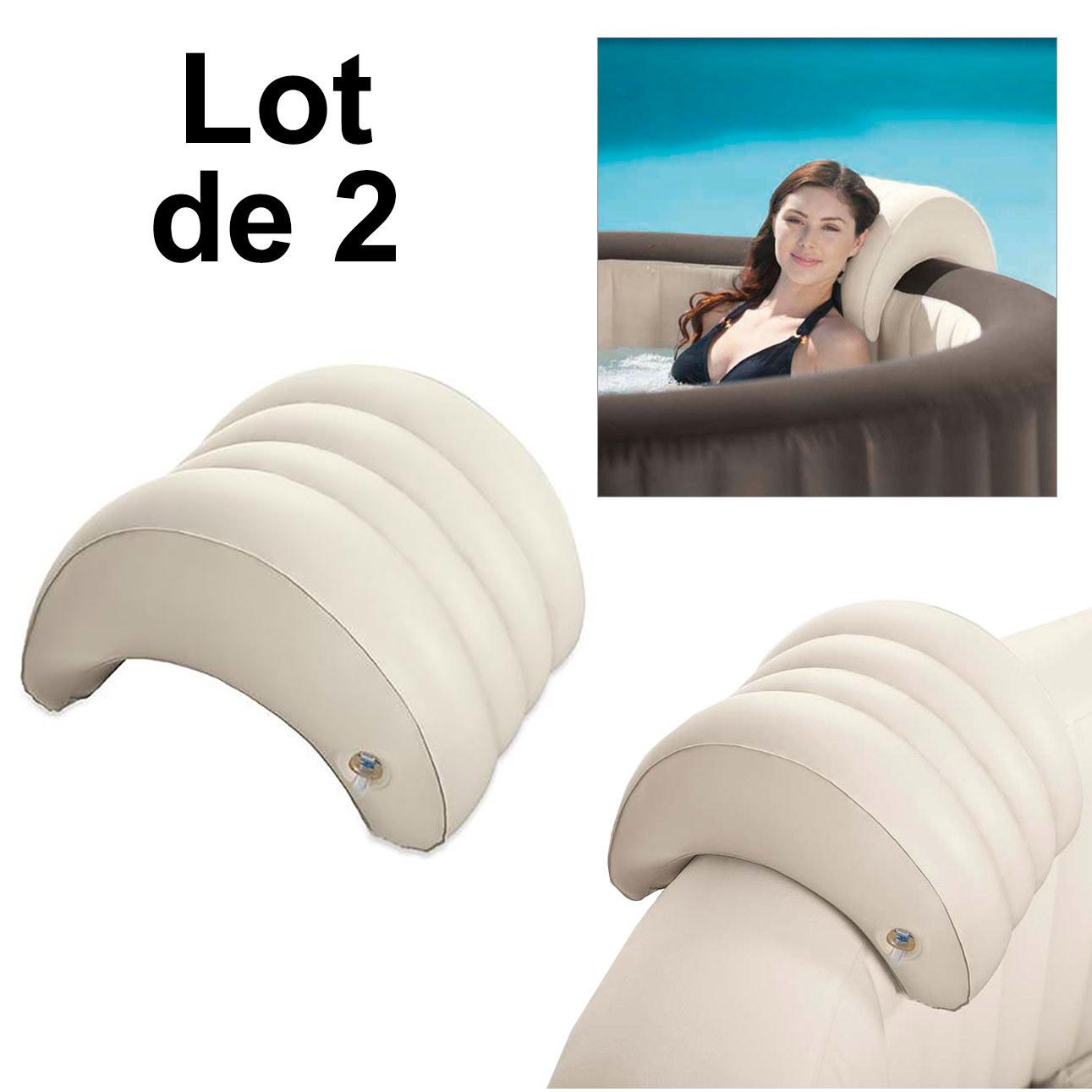Lot de 2 Appuis Tête Gonflable pour Spa Intex - Appui Tête Spa Intex