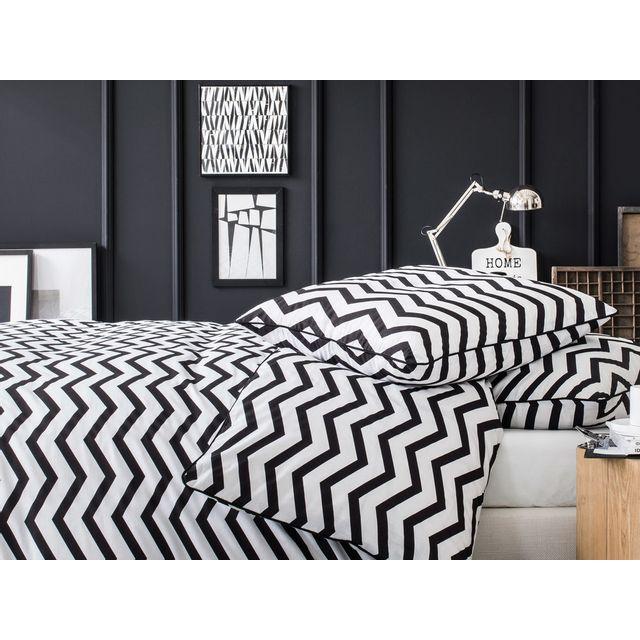 housse de couette noir et blanc blog de conception de maison. Black Bedroom Furniture Sets. Home Design Ideas