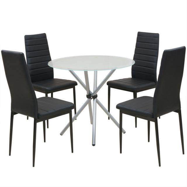 Vidaxl ensemble de table et chaise salle manger 5 pcs - Conforama table et chaise salle a manger ...