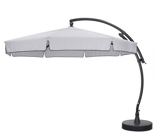 Easy Sun - Sun Garden Parasol déporté 350 Olefin Gris Clair