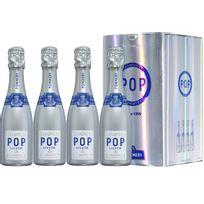 Champagne Pommery - Coffret de 4 Pop Silver Apanage 4 x 20cl